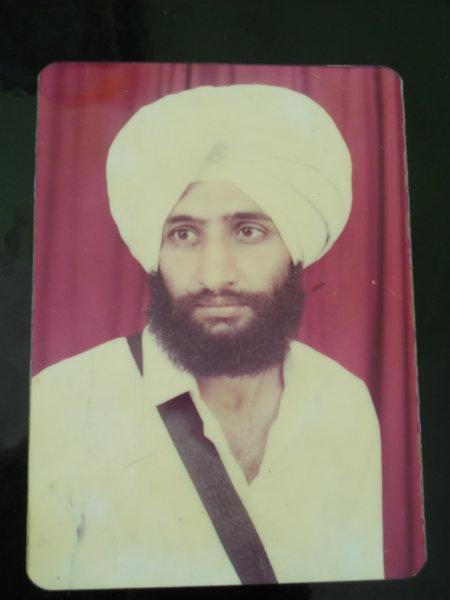 Photo of Sarabjit Singh, victim of extrajudicial execution on January 18, 1993, in Payal, Maloud, Khanna, by Punjab Police