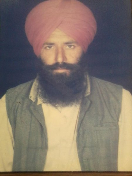 Photo of Talvinder Singh, victim of extrajudicial execution on March 30, 1993, in Sidhwan Bet, by Punjab Police