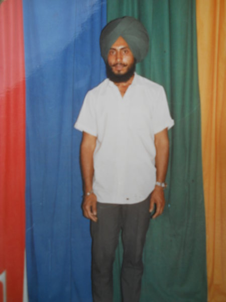 Photo of Gurmeet Singh, victim of extrajudicial execution on March 29, 1991, in Khanna, by Punjab Police