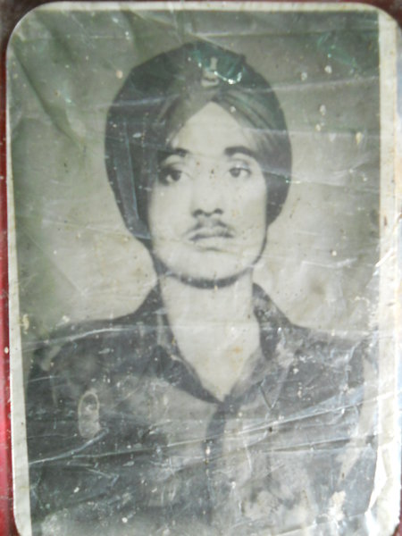 Photo of Avtar Singh, victim of extrajudicial execution between June 1, 1984 and June 6,  1984Army
