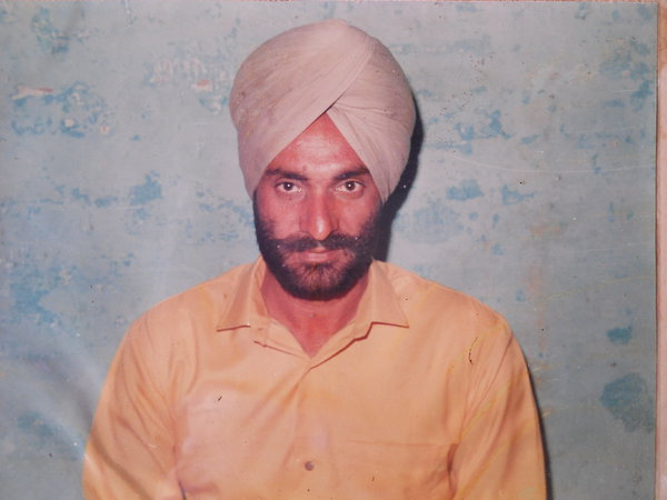 Photo of Hardev Singh, victim of extrajudicial execution between July 28, 1987 and July 29,  1987, in Raikot, by Punjab Police