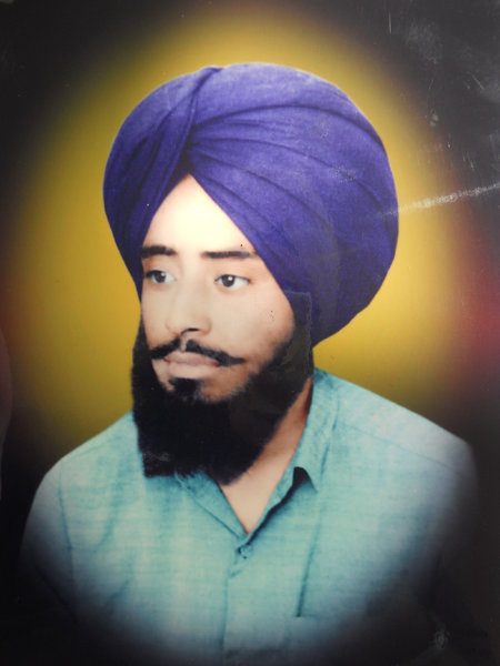 Photo of Rawinderpal Singh, victim of extrajudicial execution on June 09, 1993, in Sidhwan Bet, by Punjab Police