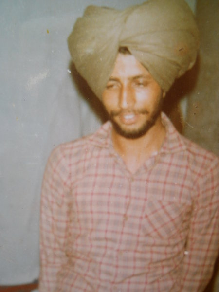Photo of Gurcharn Singh, victim of extrajudicial execution on February 28, 1989, in Patiala, by Punjab Police