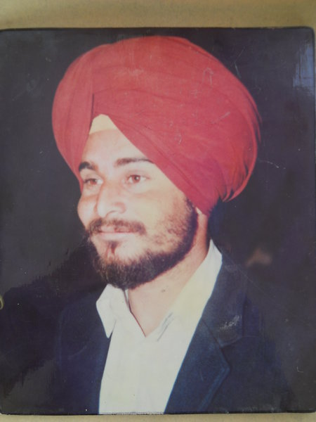 Photo of Sukhdarshan Singh, victim of extrajudicial execution on January 05, 1993, in Mann, Jagraon CIA Staff,  by Punjab Police; Criminal Investigation Agency, in Mann, Jagraon CIA Staff, by Punjab Police; Criminal Investigation Agency