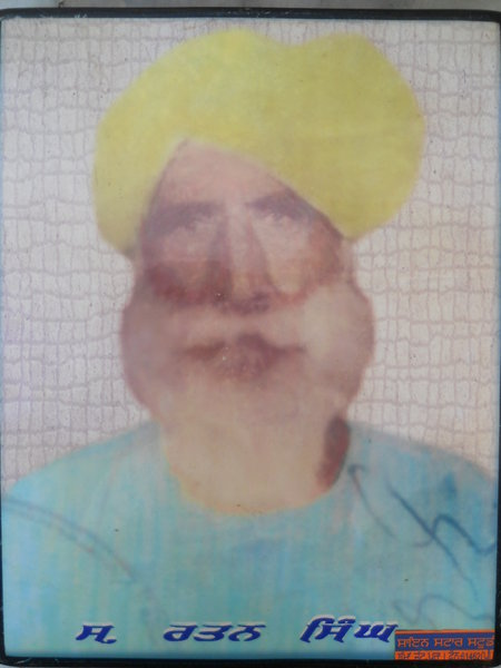 Photo of Rattan Singh, victim of extrajudicial execution on June 06, 1984, in Jagraon, by Punjab Police; Central Reserve Police Force