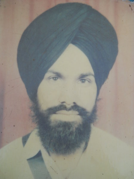 Photo of Gurcharan Singh, victim of extrajudicial execution on August 28, 1993, in Jagraon CIA Staff, by Criminal Investigation Agency