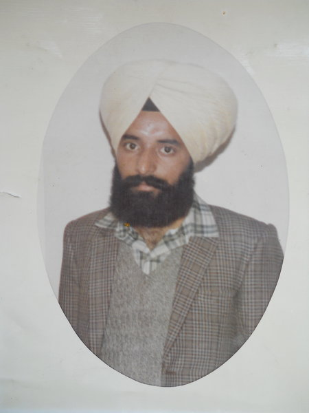 Photo of Avtar Singh, victim of extrajudicial execution on January 26, 1989 by Black cat, in Jagraon, by Punjab Police