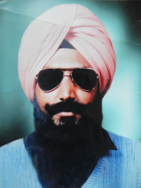 Photo of Jarnail Singh, victim of extrajudicial execution on May 5, 1989, in Jagraon, by Punjab Police
