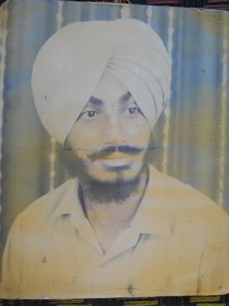 Photo of Paramjit Singh, victim of extrajudicial execution on July 17, 1989, in Dehlon, by Punjab Police