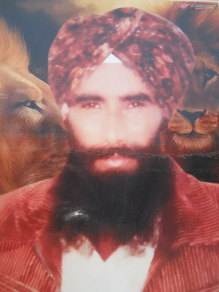 Photo of Teja Singh, victim of extrajudicial execution on August 18, 1992, in Jagraon CIA Staff,  by Criminal Investigation Agency, in Jagraon CIA Staff, by Criminal Investigation Agency