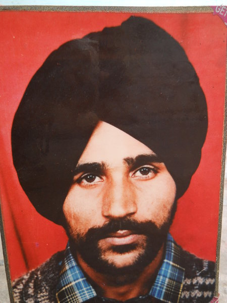 Photo of Sulakhan Singh, victim of extrajudicial execution on January 03, 1991, in Sherpur, by Punjab Police