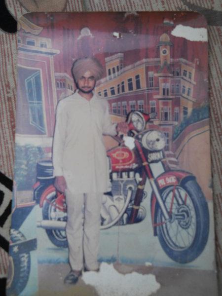 Photo of Jaswinder Singh, victim of extrajudicial execution between May 21, 1991 and May 22,  1991, in Mullanpur Dakha, by Punjab Police