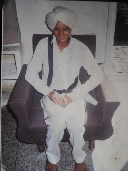 Photo of Sukhdev Singh, victim of extrajudicial execution on June 19, 1988, in Sherpur, by Punjab Police