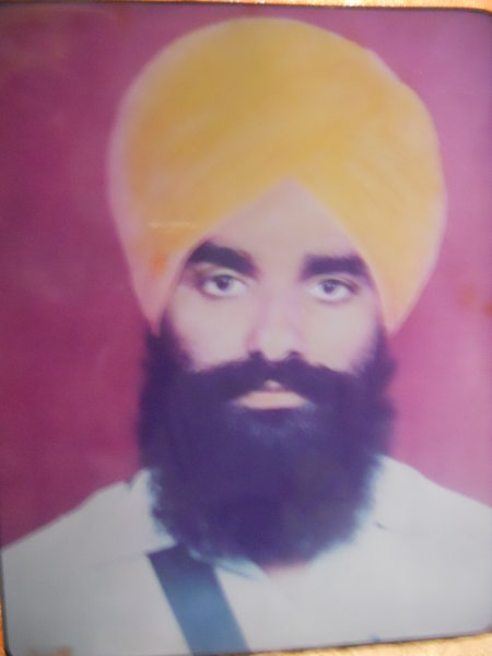 Photo of Fakir Singh, victim of extrajudicial execution on March 10, 1993, in Hathur, by Punjab Police