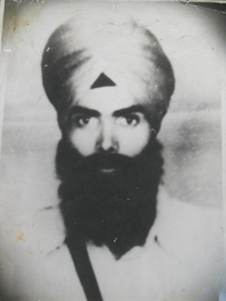 Photo of Gurmeet Singh, victim of extrajudicial execution on August 21, 1982, in Banga, Nawanshahr, by Punjab Police