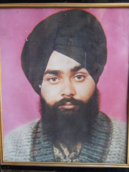 Photo of Bakshish Singh, victim of extrajudicial execution on May 11, 1993, in Jagraon, Ludhiana, by Punjab Police