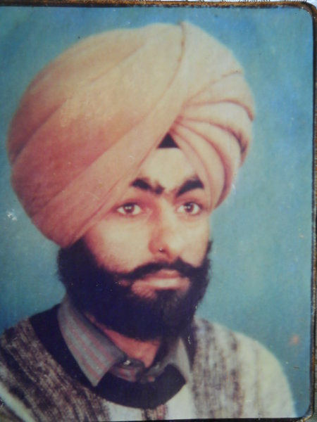 Photo of Jagmail Singh, victim of extrajudicial execution on June 4, 1988, in Dehlon, by Punjab Police
