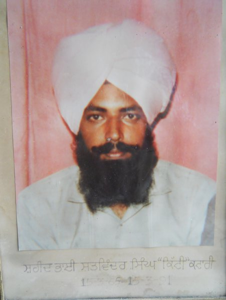 Photo of Satwinder Singh, victim of extrajudicial execution on March 15, 1991Punjab Police