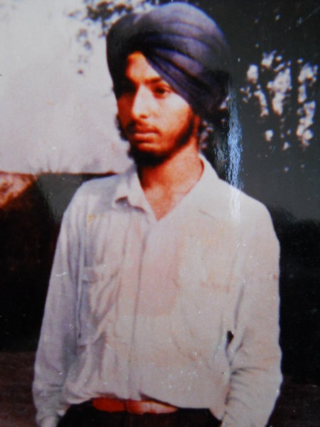 Photo of Jasvir Singh, victim of extrajudicial execution on May 20, 1989, in Sahnewal, Dehlon, by Punjab Police