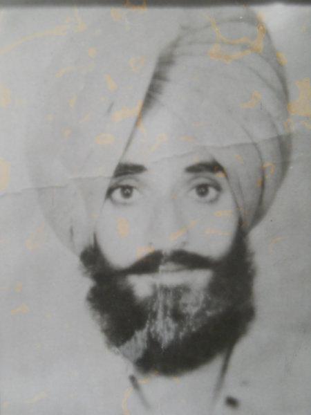 Photo of Darshan Singh, victim of extrajudicial execution on June 24, 1990, in Dehlon, by Punjab Police