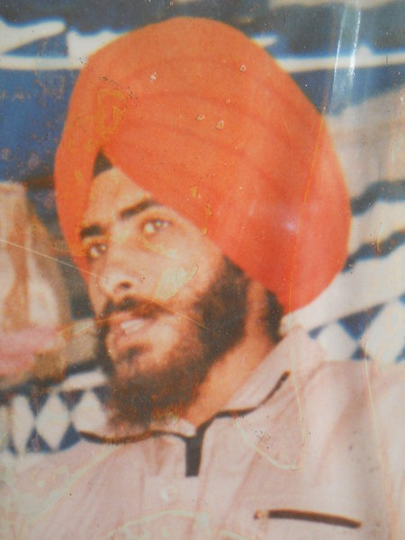 Photo of Harpal Singh, victim of extrajudicial execution on June 13, 1990, in Khanna, by Punjab Police