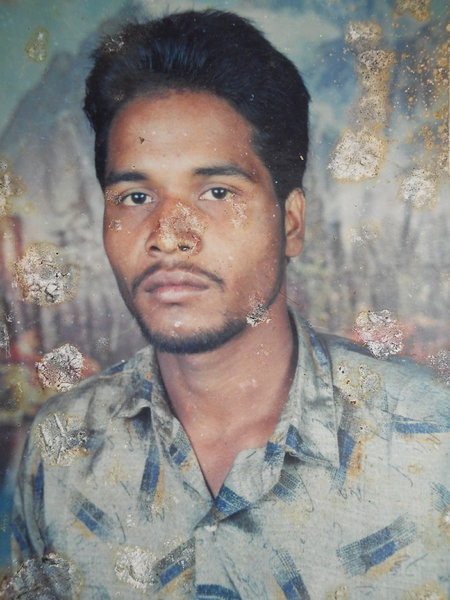 Photo of Jagdev Singh, victim of extrajudicial execution, date unknown, in Manochahal, by Punjab Police