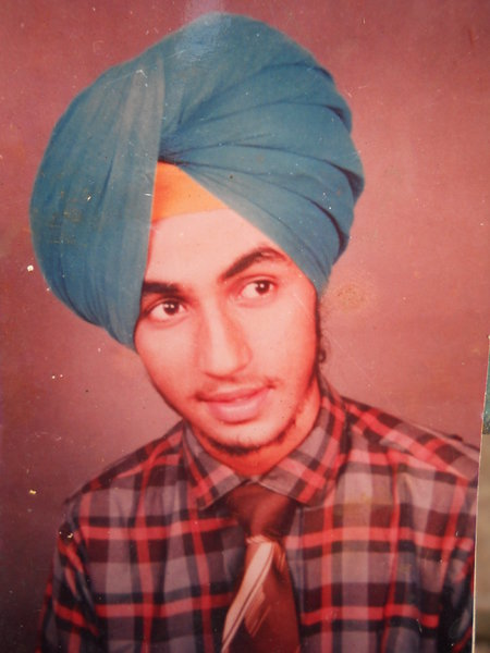 Photo of Rupinder Singh, victim of extrajudicial execution on May 22, 1988, in Sahnewal, by Punjab Police