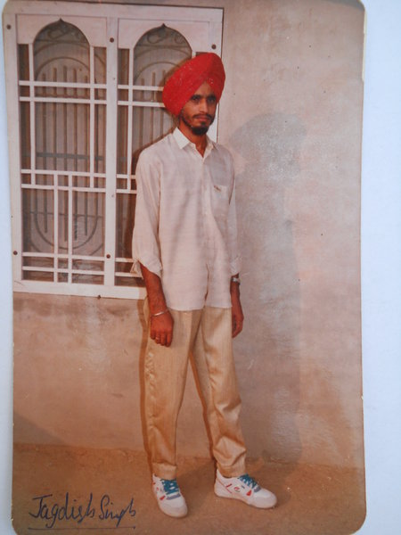 Photo of Jagdish Singh, victim of extrajudicial execution on December 14, 1991, in Jagraon, by Punjab Police