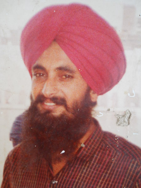 Photo of Jagroop Singh, victim of extrajudicial execution on November 10, 1991, in Payal, by Punjab Police