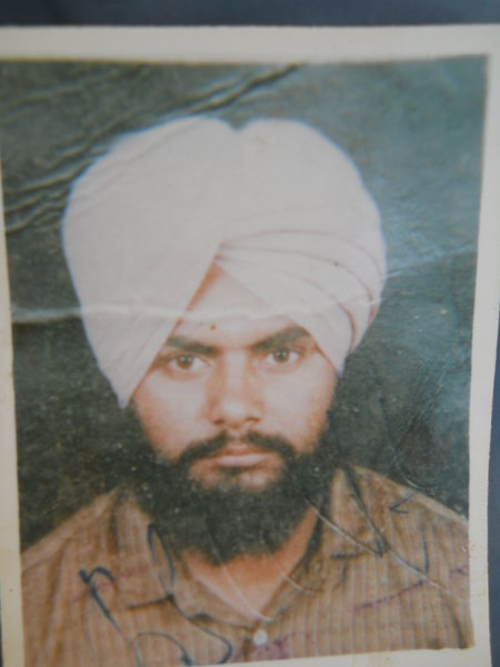 Photo of Paramjit Singh, victim of extrajudicial execution on June 09, 1993, in Jagraon CIA Staff,  by Criminal Investigation Agency, in Jagraon, by Punjab Police