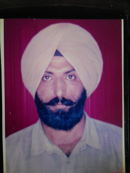 Photo of Harchand Singh, victim of extrajudicial execution on September 30, 1993, in Mann, Jagraon CIA Staff,  by Punjab Police; Criminal Investigation Agency, in Mann, Jagraon CIA Staff, by Punjab Police; Criminal Investigation Agency