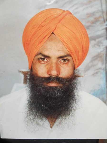 Photo of Baldev Singh, victim of extrajudicial execution on June 23, 1991, in Mansa, by Punjab Police