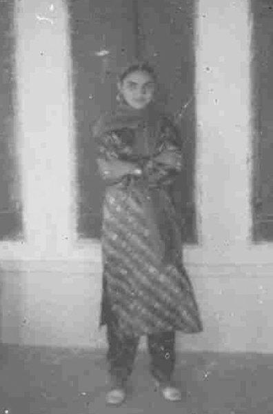Photo of Sakina Begam, victim of extrajudicial execution on May 17, 1993, in Talwandi Sabo, by Punjab Police