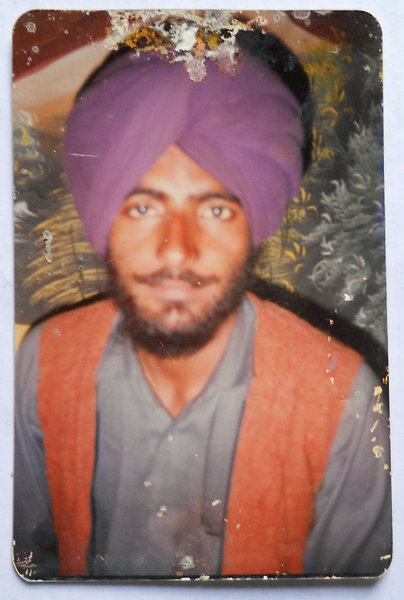 Photo of Mewa Singh, victim of extrajudicial execution, date unknown, in Jhuner, Boha,  by Punjab Police; Central Reserve Police ForcePunjab Police
