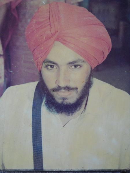 Photo of Harbhajan Singh, victim of extrajudicial execution between June 20, 1993 and June 21,  1993, in Bhikhi, by Punjab Police