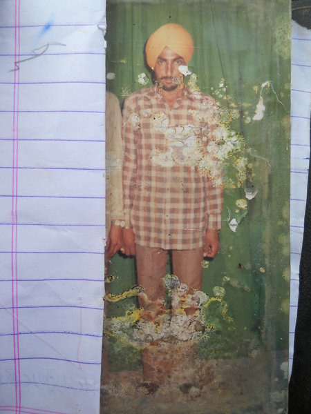 Photo of Bhola Singh,  disappeared between October 28, 1991 and October 29,  1991, in Jhuner,  by Punjab Police