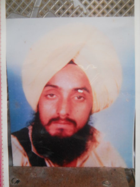 Photo of Mahinder Singh, victim of extrajudicial execution between December 31, 1991 and January 3,  1992, in Joga, by Punjab Police