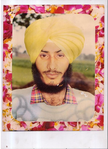 Photo of Dharminder Singh, victim of extrajudicial execution between March 1, 1993 and March 31,  1993, in Bhikhi, by Punjab Police