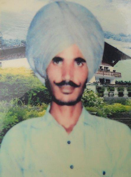 Photo of Baldev Singh, victim of extrajudicial execution, date unknownPunjab Police