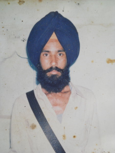 Photo of Mangal Singh, victim of extrajudicial execution between February 9, 1985 and February 11,  1985, in Rupnagar, by Punjab Police