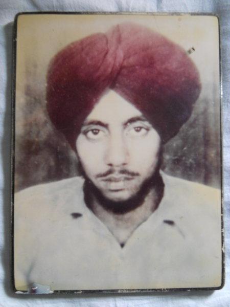 Photo of Harminder Singh, victim of extrajudicial execution on May 17, 1993Punjab Police