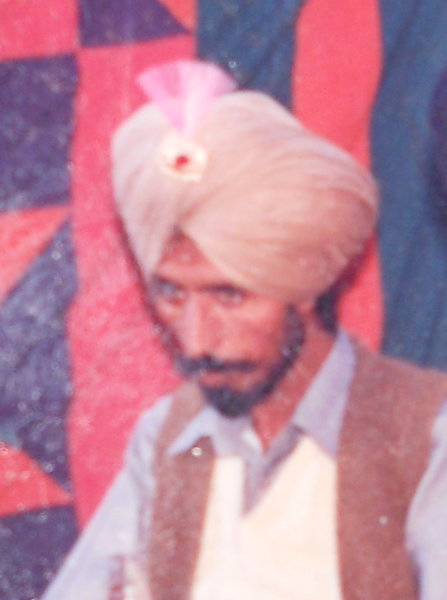 Photo of Gurnaam Singh, victim of extrajudicial execution on September 22, 1994, in Mehna, by Punjab Police