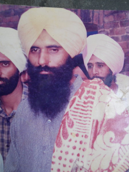 Photo of Amarjit Singh, victim of extrajudicial execution between June 14, 1993 and June 16,  1993, in Mehna, by Punjab Police
