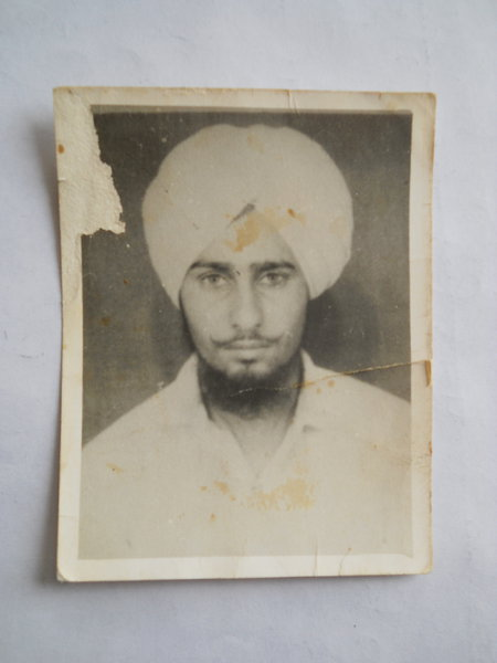 Photo of Nirmal Singh, victim of extrajudicial execution on May 17, 1989, in Jagraon,  by Punjab Police; Central Reserve Police Force, in Jagraon, by Punjab Police