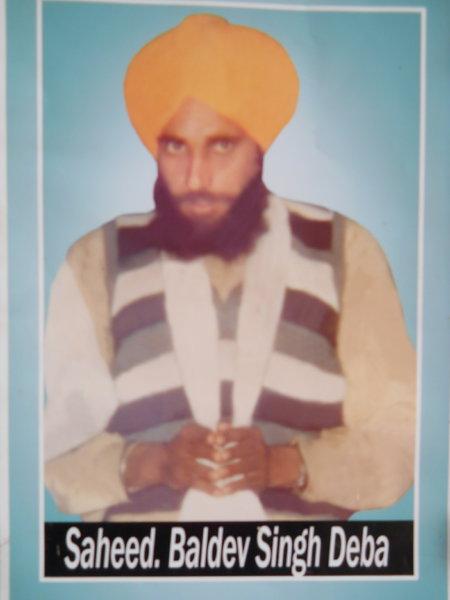 Photo of Baldev Singh, victim of extrajudicial execution on July 28, 1991Punjab Police