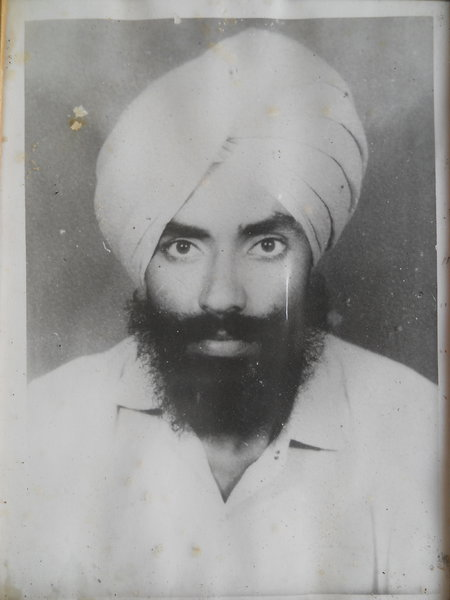Photo of Gurcharan Singh, victim of extrajudicial execution on June 8, 1989, in Bhagha Purana, by Punjab Police