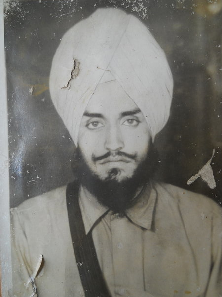 Photo of Hardev Singh, victim of extrajudicial execution on December 17, 1987, in Ghal Kalan, by Punjab Police