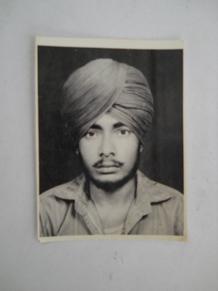 Photo of Sukhmander Singh, victim of extrajudicial execution on October 31, 1987, in Dharamkot, by Punjab Police