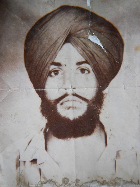 Photo of Baldev Singh, victim of extrajudicial execution on July 27, 1989, in Kot Ise Khan,  by Punjab Police; Central Reserve Police Force, in Kot Ise Khan, by Punjab Police