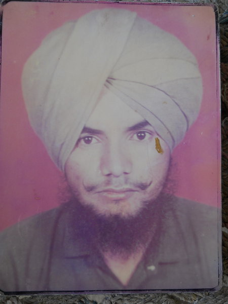 Photo of Varinder Singh, victim of extrajudicial execution on December 31, 1990Punjab Police